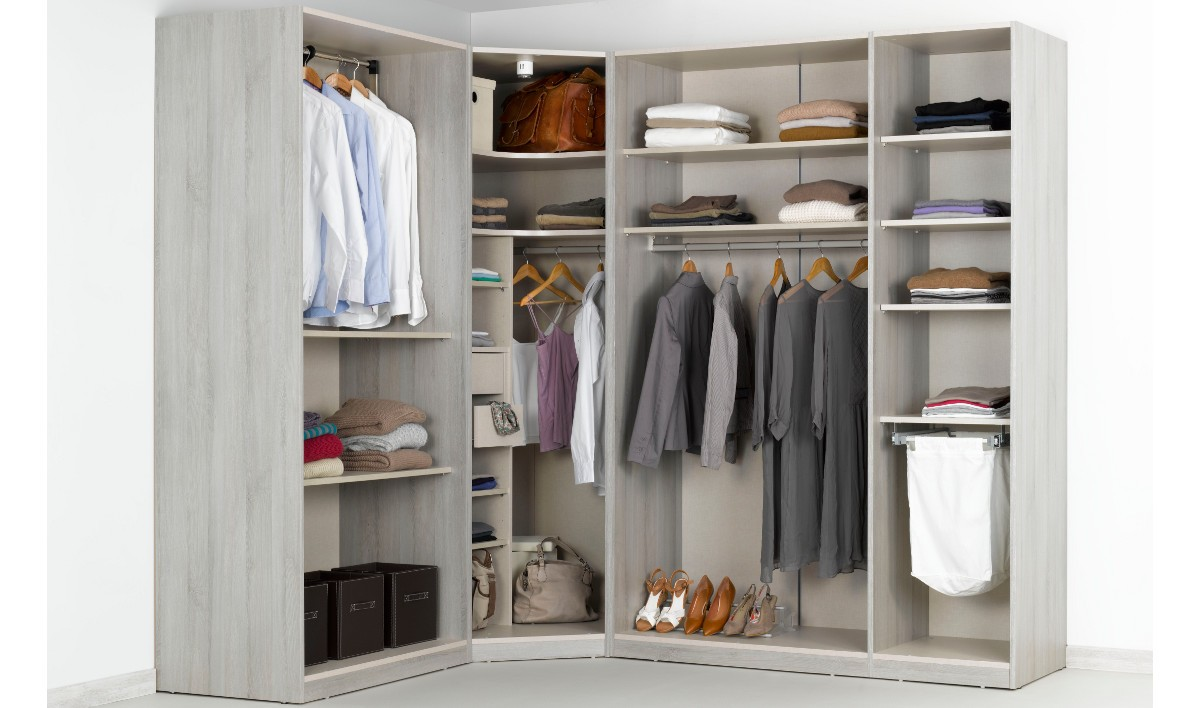 Fabriquer un dressing d angle maison design for Photo de dressing