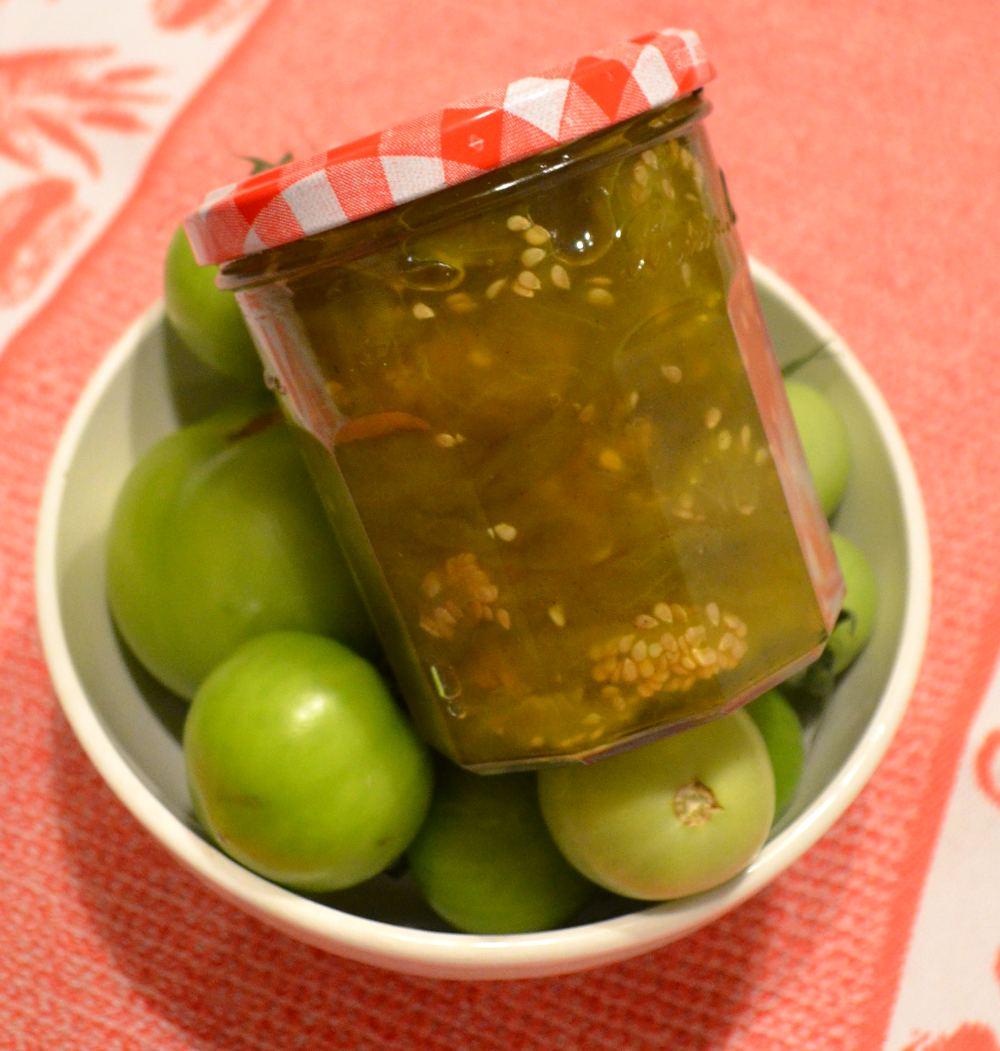 Confiture de tomates vertes je vous donne ma recette maison - Cuisiner des tomates vertes ...