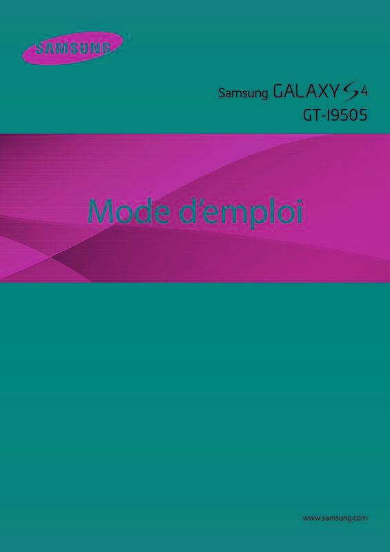 samsung galaxy s4 mode d emploi